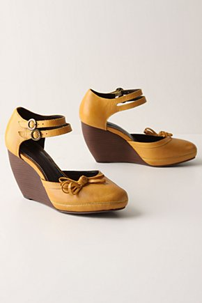 Flaxen Wedges - Anthropologie.com :  wedges bow leather ankle strap