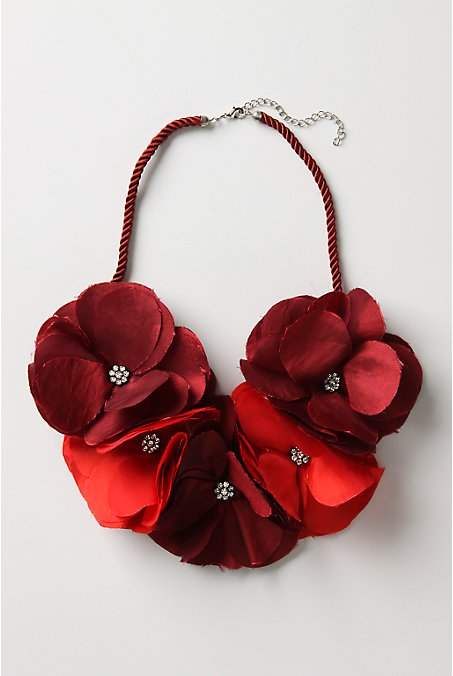 Roped Posies Necklace - Anthropologie.com :  necklace floral silk posies