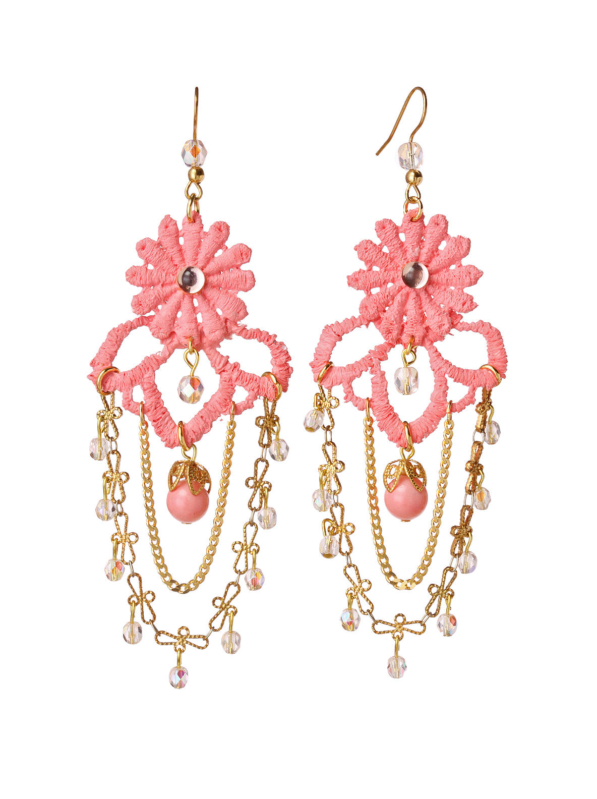 Lace Swing Earrings - Anthropologie.com :  earring pink fashion anthropologie