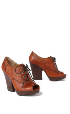 Stepping Out Oxfords - Anthropologie.com :  pumps studded leather stacked heel