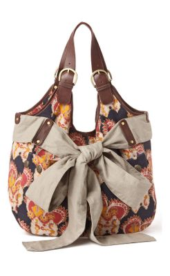 Blooming Bow Bag - Anthropologie.com :  handles cotton buttons navy