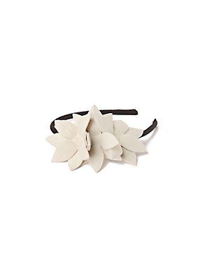 Saucer Tree Headband - Anthropologie.com :  flower headband felt magnolia