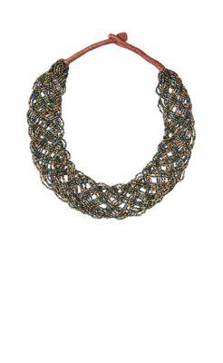 Beaded Braid Necklace-Anthropologie.com