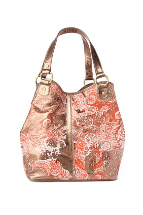 Paisley Pastiche Bag - Anthropologie.com :  handbag shimmery leather distressed