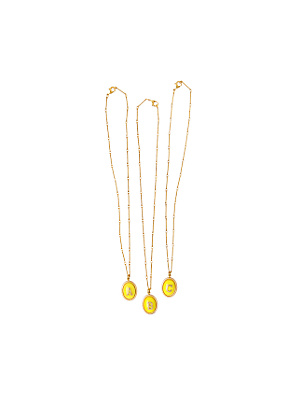 Lemon Initial Necklace  - Anthropologie.com :  necklace gold initials yellow