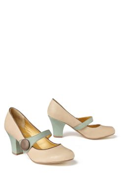 Woodhull Mary-Janes - Anthropologie.com :  pumps brown green white