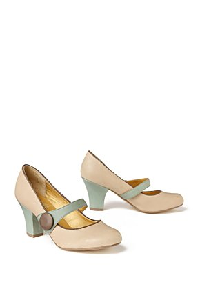 Woodhull Mary-Janes - Anthropologie.com :  mary janes sage white cream