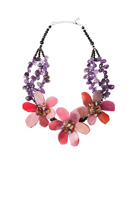Strata Bounty Necklace - Anthropologie.com :  necklace flowers design jewelry