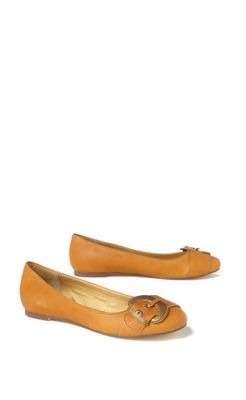 Blithe Ballerinas - Anthropologie.com :  leather cute gold metallic
