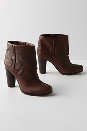Proportion Play Booties - Anthropologie.com :  leather cuffed brown bootie