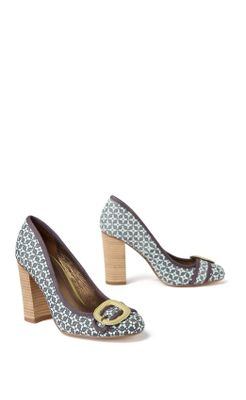 All-Occasions Heels - Anthropologie.com :  pumps yellow print white