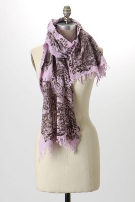 Owl Parliament Scarf - Anthropologie.com :  wool pink black purple