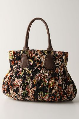 Puckered Canvas Bag - Anthropologie.com :  puckered leather canvas fall