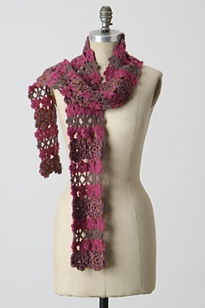 Greenhouse Garland Scarf - Anthropologie.com :  floral mixed stitch acrylic scarf