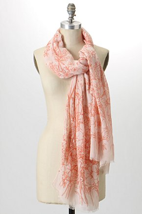 Penciled Posy Scarf - Anthropologie.com :  floral blue black acrylic