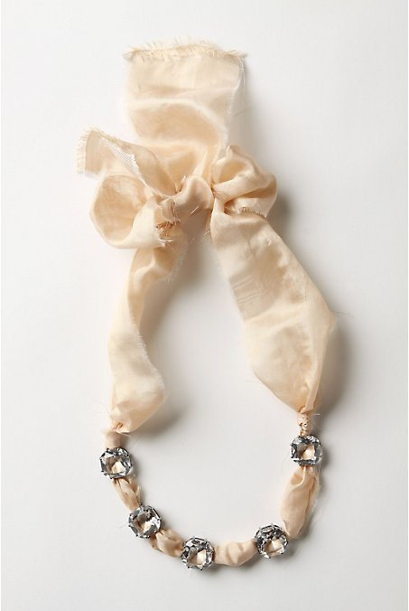 Frayed Diamonds Necklace - Anthropologie.com :  silk glass lee angel jewelry