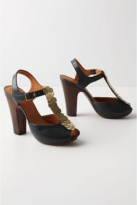 Neptune's Kingdom Platforms - Anthropologie.com :  t strap peep toe wood chie mihara