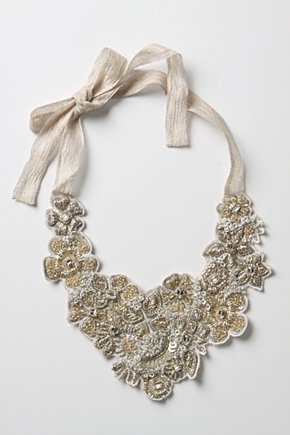 Rousseau Necklace - Anthropologie.com :  necklace rousseau necklace jewelry and wearable art rhinestones beads and sequin