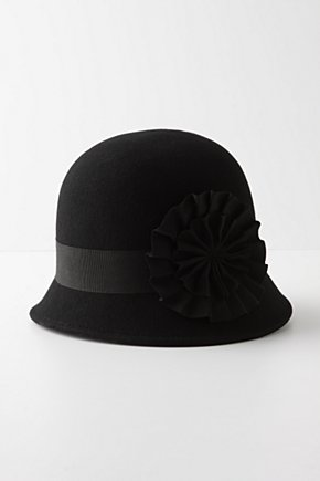 Pinwheel Cloche - Anthropologie.com :  wool ribbon rosette grosgrain
