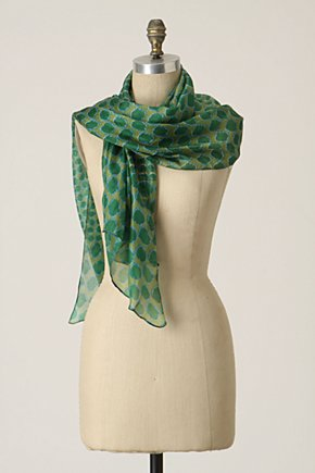 Spotted Scat Scarf - Anthropologie.com :  silk scarf spotted simple