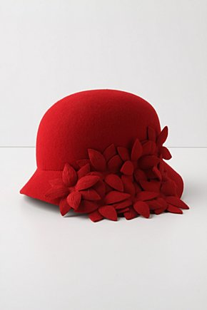 Topiary Hat - Anthropologie.com :  wool floral felt hat