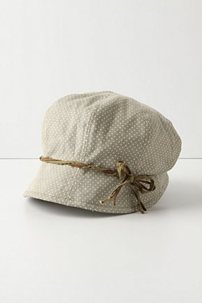 Asparagus Consomme Cap - Anthropologie.com :  bow polka dot cute twill