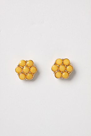 Opacity Posts - Anthropologie.com :  cute earrings flower earrings yellow earrings girls earrings