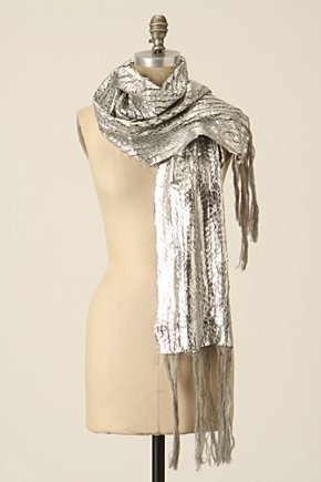 Silver Plated Scarf - Anthropologie.com :  wool nylon sweater knit acrylic
