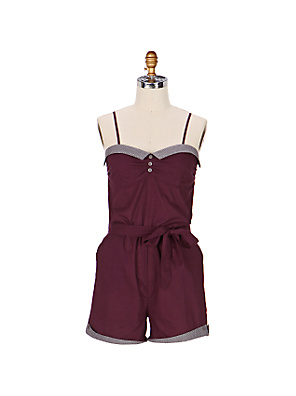 Cuffed Romper Anthropologie com from anthropologie.com