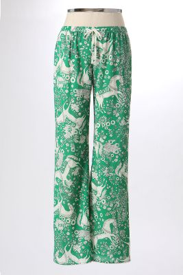 Prancing Steed Sleep Pants - Anthropologie.com :  floral loungers bottom green