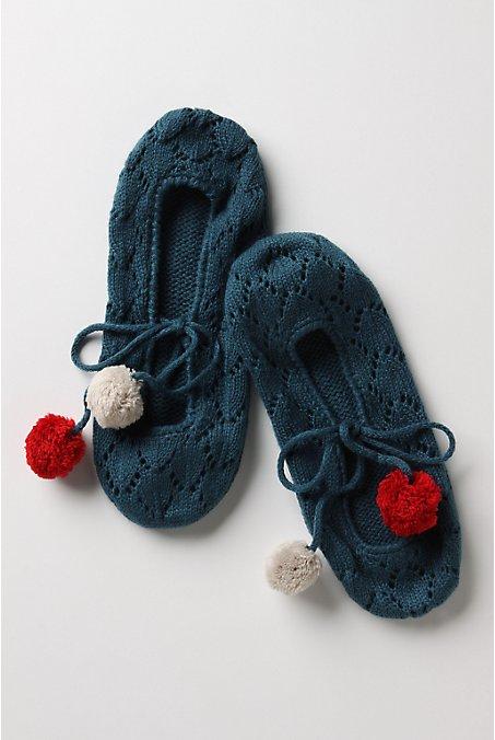 Rah-Rah Slipper-Socks-Anthropologie.com