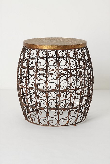 Cascara Side Table - Anthropologie.com :  furniture theme table indian