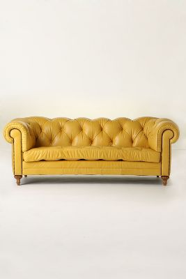 Atelier Chesterfield - Anthropologie.com :  sofa yellow anthropologie