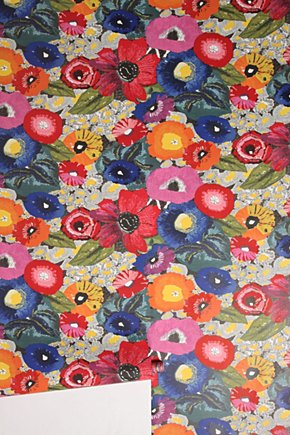 Blazing Poppies Wallpaper - Anthropologie.com :  wallpaper home decor crafts anthropologie