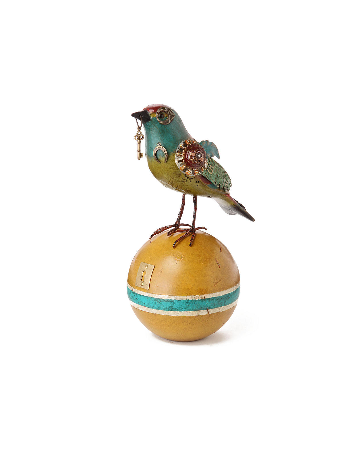 Gladiator Bird, Finch With Key - Anthropologie.com :  ephemera relic vintage kitsch