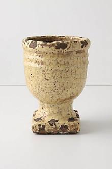 Aged Herb Pot, Pedestal