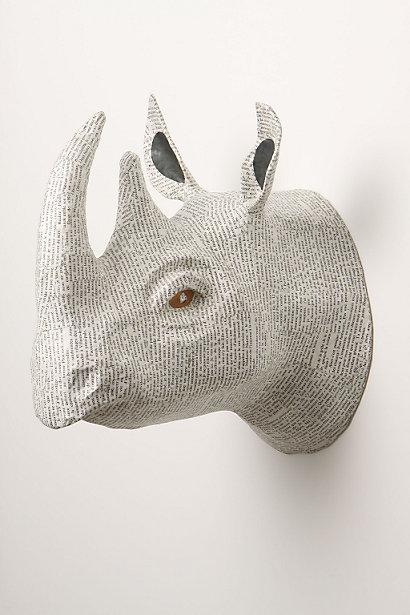 Anthropologie - Savannah Story Bust, Rhino