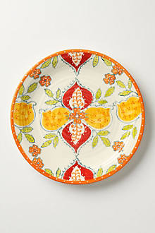 Sliced Persimmon Dinner Plate