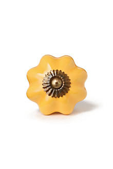 Yellow Ceramic Knob