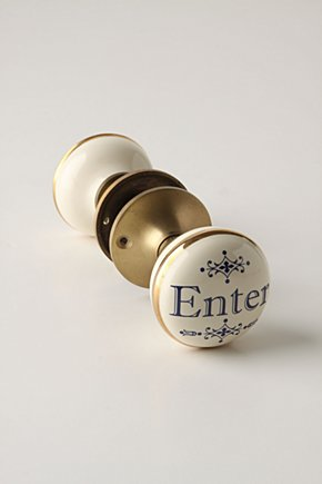 Hello, Goodbye Knob - Anthropologie.com :  hardware knob doorknob anthropologie