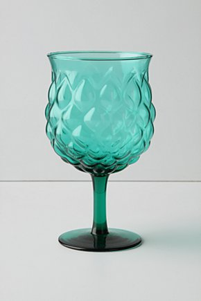 Vinifera Goblet, Short - Anthropologie :  glass goblet anthropologie turquoise
