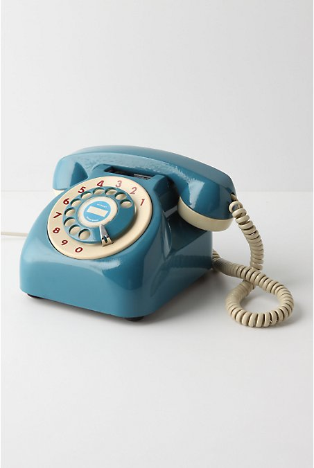 Vintage Rotary Phone - Anthropologie.com :  phone anthropologie rotary apartment