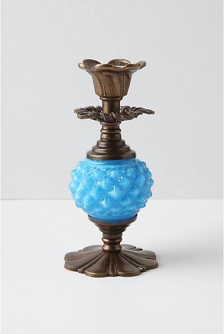 Analiese Taper Holder, Turquoise - Anthropologie.com