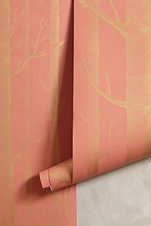 Woods Wallpaper, Coral