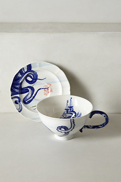 Sale alerts for Anthropologie From The Deep Cup & Saucer - Covvet