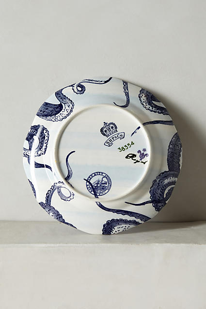 From The Deep Side Plate, Octopus - anthropologie.com