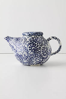 Bright Morning Teapot, Blue