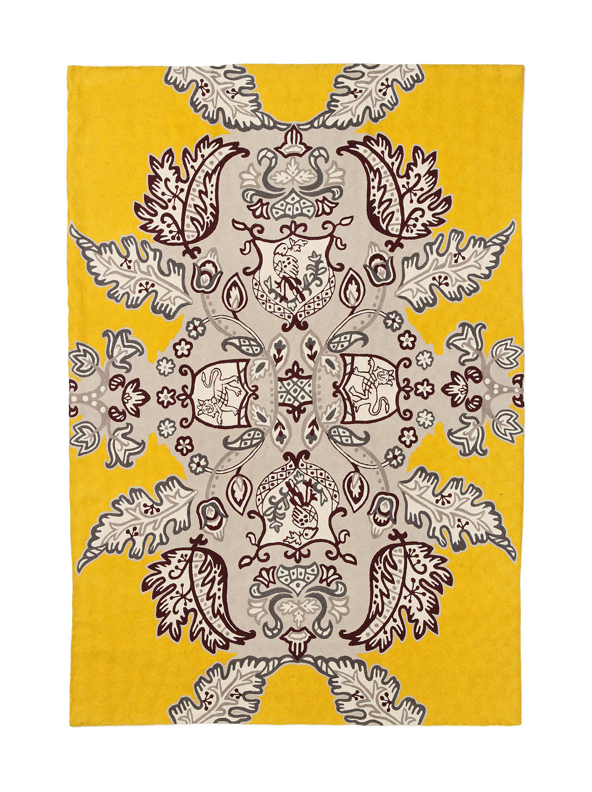 Modern Heraldry Rug - Anthropologie.com :  wool anthropologie yellow plum