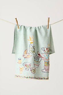 Tweeting Tea Party Dishtowel