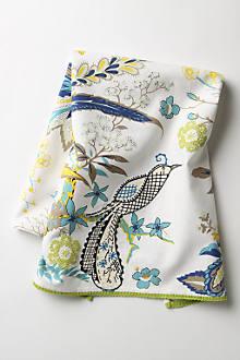 Birder Dishtowel, Blue
